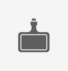 Bottle of hard alcohol icon vector