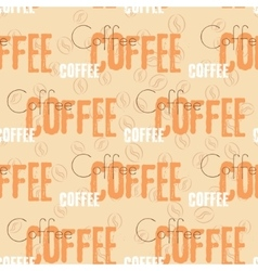 Coffee text seamless pattern Beige word vector image