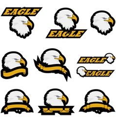 Eagle icons vector image vector image