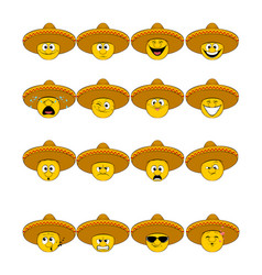 faces in sombrero vector image