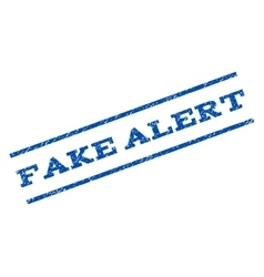 Fake alert watermark stamp vector