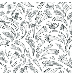 floral doodle seamless vector image vector image