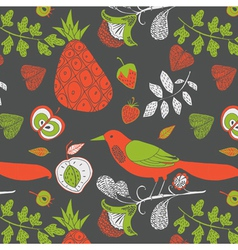 fruity wallpaper print vector image vector image