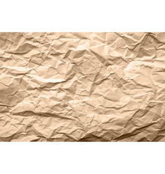 Light Brown Texture of Crumpled Paper vector image