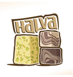 Logo for turkish halva vector