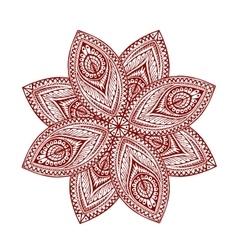 Mandala Beautiful vintage round pattern vector image