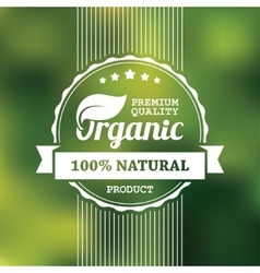 Organic product banner vector image vector image