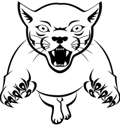 Panther tattoo tribal vector