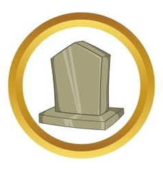 Sepulchral monument icon vector