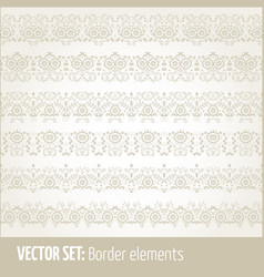 Set of border elements and page vector