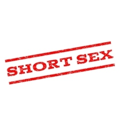 Short Sex Watermark Stamp vector image vector image