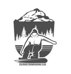 snowboarding badges and logotypes vector image vector image