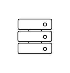 stacked storage device icon vector image