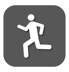 The man running icon Run symbol Flat vector image