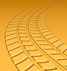Trace tyre hot sand desert vector