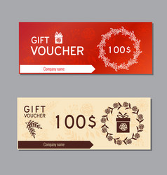 voucher coupon template vector image