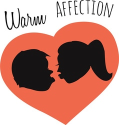 Warm affection vector