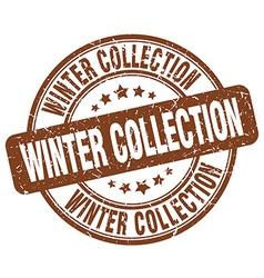 Winter collection brown grunge round vintage vector