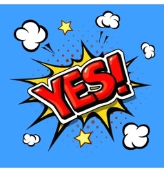 Yes comic book explosion vector