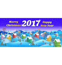 New year card 2017 vector