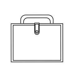 Isolated suitcase design vector