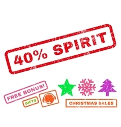 40 percent spirit rubber stamp vector