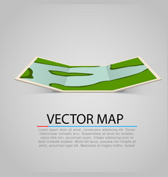 Modern and bright paper map vector