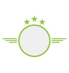 Isolated golf emblem vector