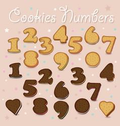 Sweet cookies numbers vector