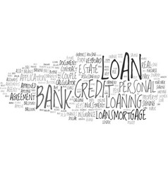 Loaning word cloud concept vector