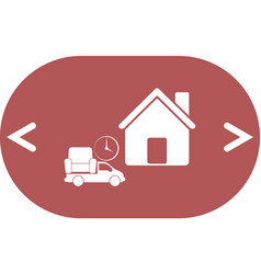 Home delivery icon vector