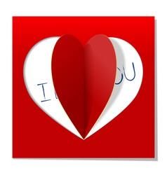 Heart love message vector