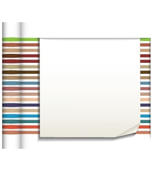 Abstract straight lines with white paper vector
