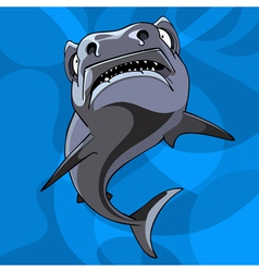 Cartoon shark underwater vector