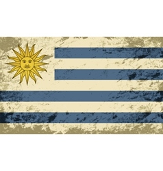 Uruguayan flag grunge background vector