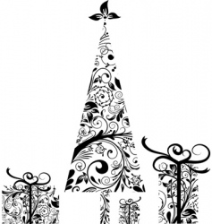 Christmas elements for design vector vector image