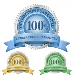 100% satisfaction guaranteed signs vector image