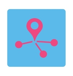 Geo network icon vector