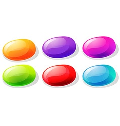 Jelly beans in many colors vector