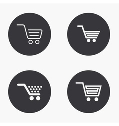 Modern shopping icons set vector