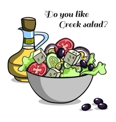 Natural food greek salad vector