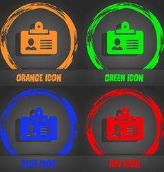 Identification card icon fashionable modern style vector