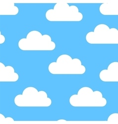 White clouds seamless vector