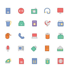 Electronics colored icons 7 vector