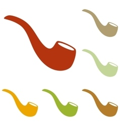 Smoke pipe sign vector