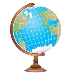 Abstract cartoon globe vector