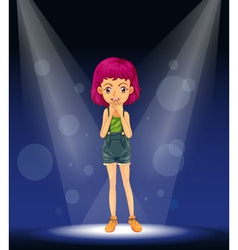 Girl stage performance vector