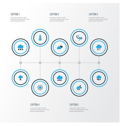 Air colorful icons set collection of lightning vector