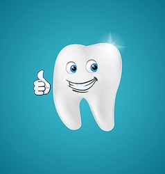Animated hero happy human tooth vector image vector image