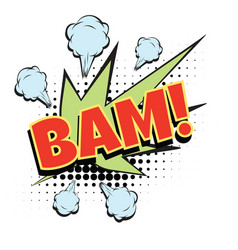 Bam comic word vector